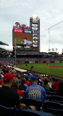 At the Phillies football game, Philadelphia.