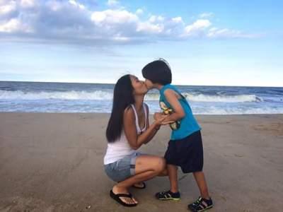 Khun Faridar and Declan, Bethany beach, Delaware