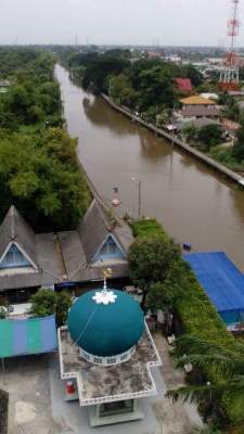 View from the top of the Mosque in Khun Faridar's neighbourhood - Minburi, Thailand.