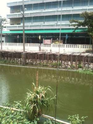 Elementary school just across the klong Sansab in Minburi, Thailand