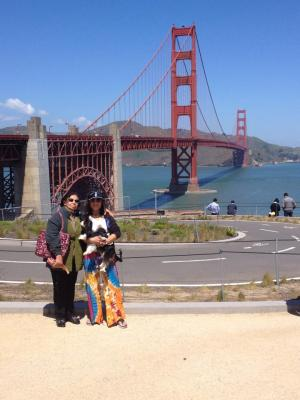 Sightseeing with Mom on a beautiful day in San Francisco