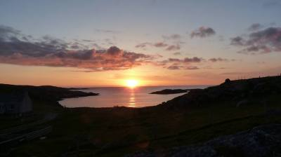 สก๊อตแลนด์ (Sunset at Uig Sands, Isle of Lewis, Scotland)