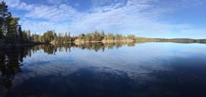 บรรยากาศ ที่บ้านพักร้อน ติดทะเลสาบ Mjermen