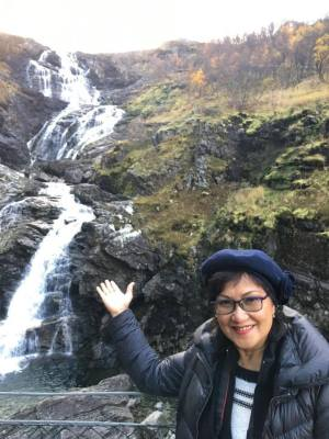 น้ำตก Brekkefossen Waterfall เส้นทางรถไฟสายโรแมนติก