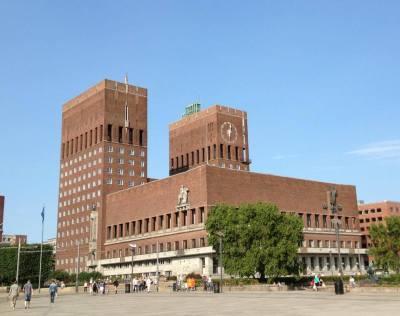 Oslo city hall ศาลากลาง Oslo